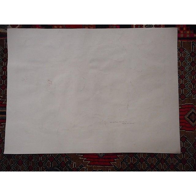"Large Antique Lithograph ""Vintage Festival"" For Sale - Image 4 of 4"