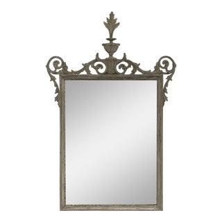 Vintage Carved & Painted Frame Mirror For Sale