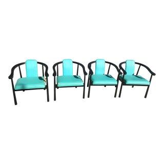Rare Vintage Kodawood Wishbone Horseshoe Chairs - Set of 4 For Sale