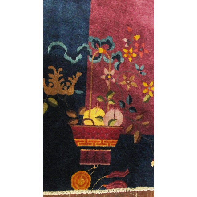 """Textile Antique Art Deco Chinese Oriental Rug-8' X 9'6"""" For Sale - Image 7 of 12"""