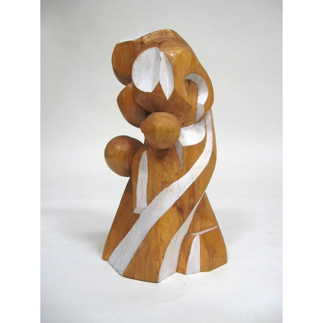 Abstract wood sculpture by Arthur Rossfield - Image 3 of 11