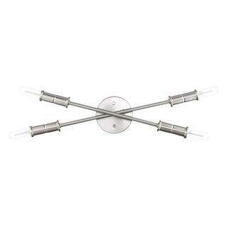 Aquarius 4 Light Sconce/Vanity, Satin Nickel For Sale