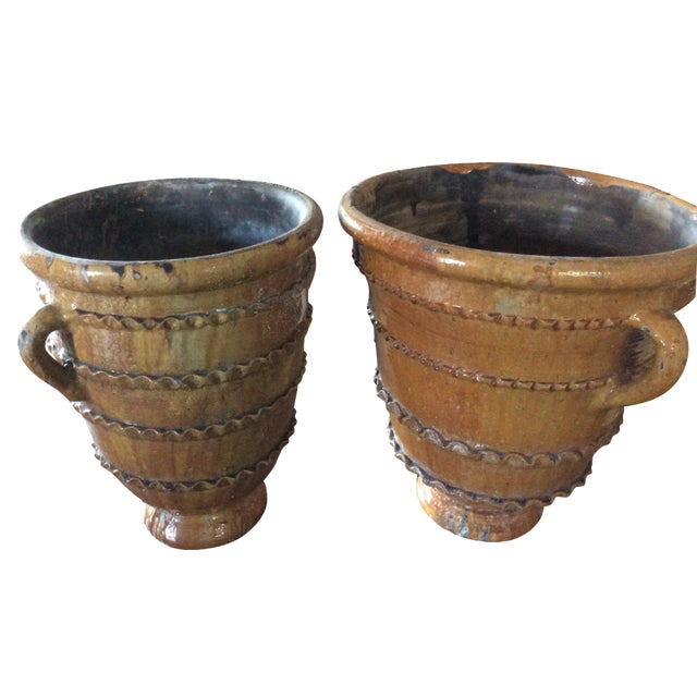 Hand-Thrown Decorative Pots - A Pair - Image 1 of 3