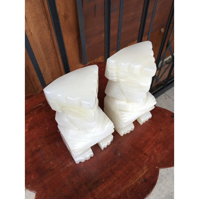 Vintage Marble Aztec Bookends - a Pair For Sale In Los Angeles - Image 6 of 9
