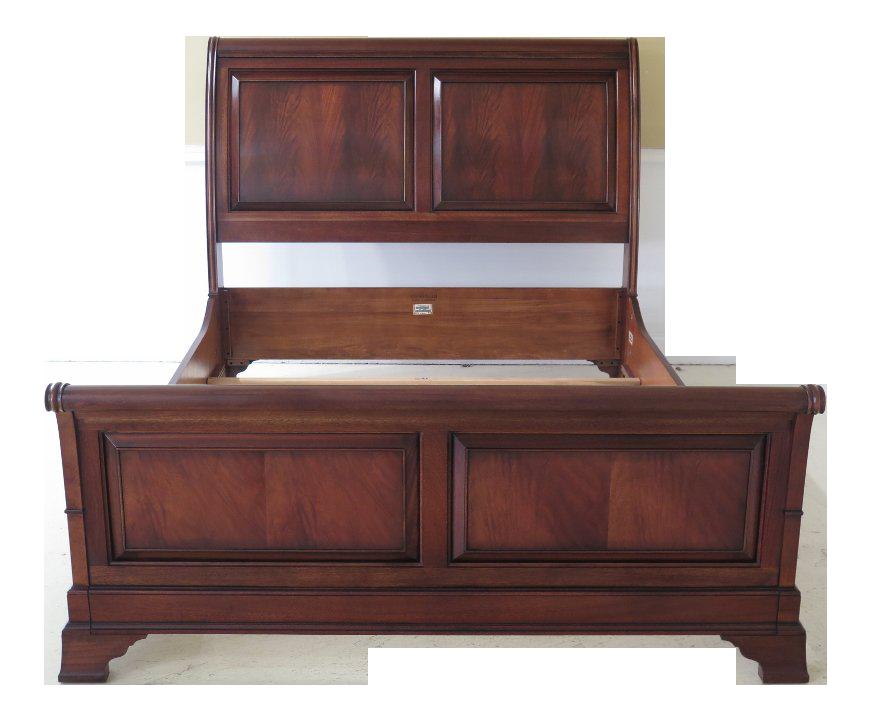 Ethan Allen Mahogany Queen Size Sleigh Bed | Chairish