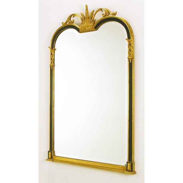 Empire Revival Parcel-Gilt and Black Lacquer Wall Mirror - Image 2 of 7
