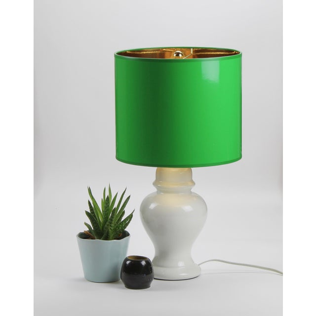 Not Yet Made - Made To Order Small High Gloss Green Drum Lamp Shade For Sale - Image 5 of 6