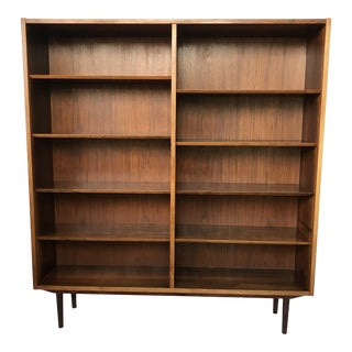 1960s Mid-Century Modern Tall Rosewood Bookcase For Sale