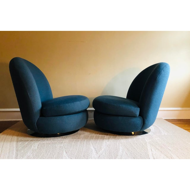 Mid-Century Modern Milo Baughman Swivel & Tilt Lounge Chairs, 1960's - a Pair For Sale - Image 3 of 8