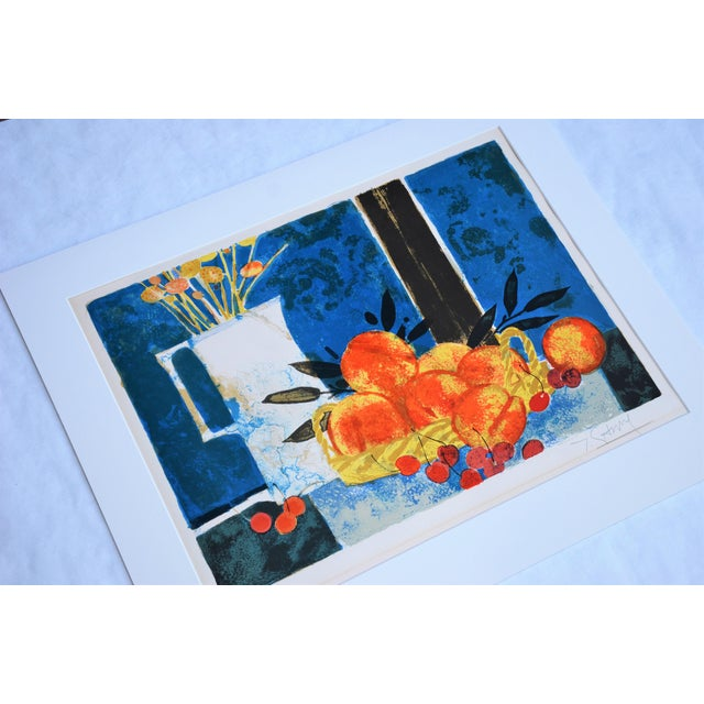 Pencil Hand Lithographed Still Life Print by French Artist Yves Ganne For Sale - Image 7 of 10