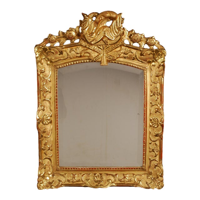 Superb French Regency Period Giltwood Wall Mirror For Sale