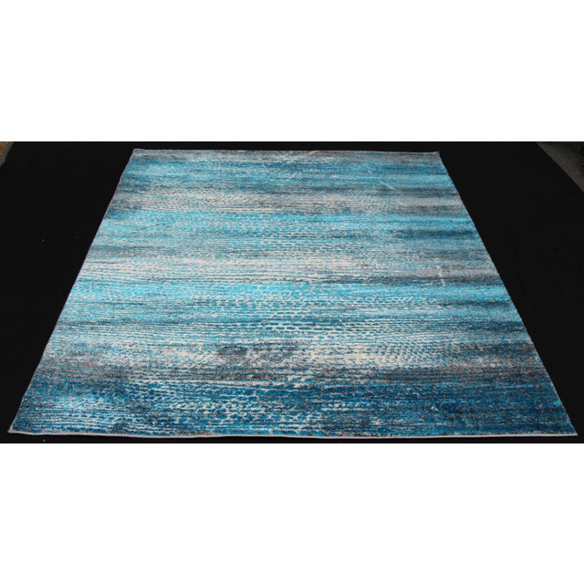 'Ocean' Blue Contemporary Rug 5'3''x 7'7'' - Image 2 of 5