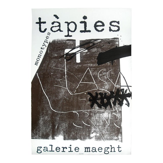 "Antoni Tapies ""Monotypes"" Poster, Galerie Maeght For Sale"