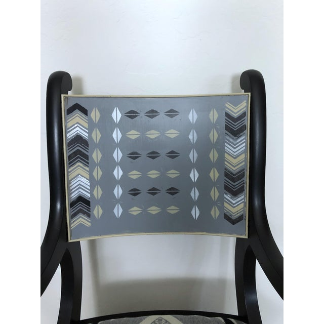 Americana Vintage Club Chair With Pendleton Wool Fabric For Sale - Image 3 of 9