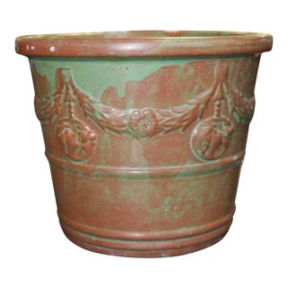 Vintage Patina Planter For Sale