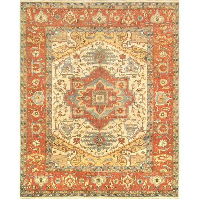 "2010s Modern Pasargad Turkish Serapi Collection Wool Area Rug- 8' 1"" X 10' 1"" For Sale - Image 5 of 5"