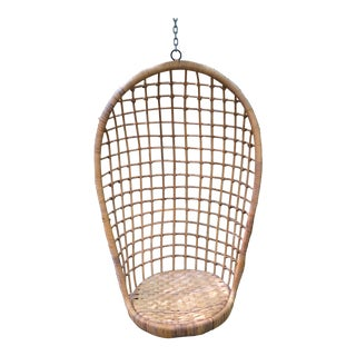 1970s Vintage Rattan Hanging Chair