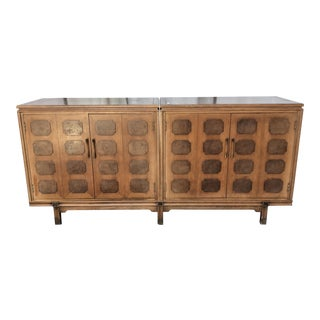 1960's Mid-Century Three Pieces Credenza For Sale
