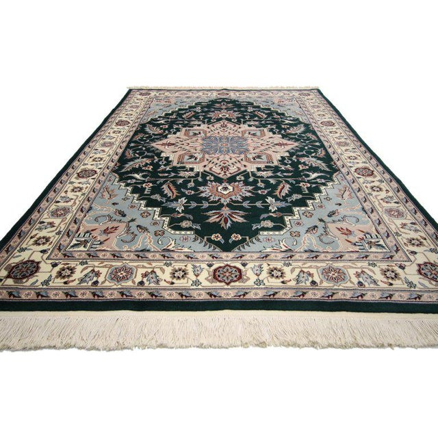 Asian Late 20th Century Persian Style Tabriz Design Rug - 5′9″ × 8′9″ For Sale - Image 3 of 6