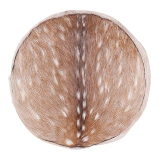 Anglo-Indian Deer Hide Pillow For Sale
