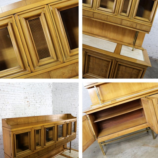 Mid Century Modern Credenza With Hutch Attributed to J. L. Metz Contempora Line For Sale - Image 12 of 13