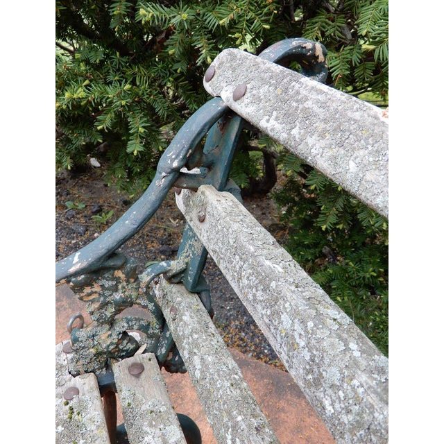 Late 19th Century Coalbrookdale Antique Cast Iron Garden Chair For Sale - Image 5 of 9