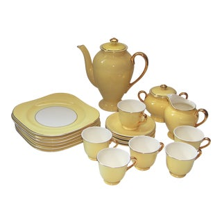 Vintage Steubenville Yellow Demi Tasse Set - Set of 6