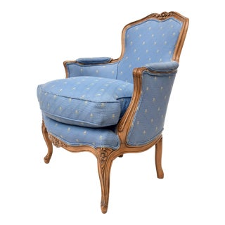 Antique Louis XV Style Bergere Chair For Sale