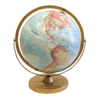 1970s Topographic World Globe by Replogle For Sale