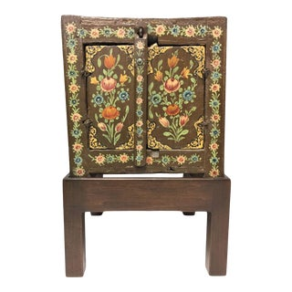 Chinese Folk-Art Style Painted Cabinet For Sale