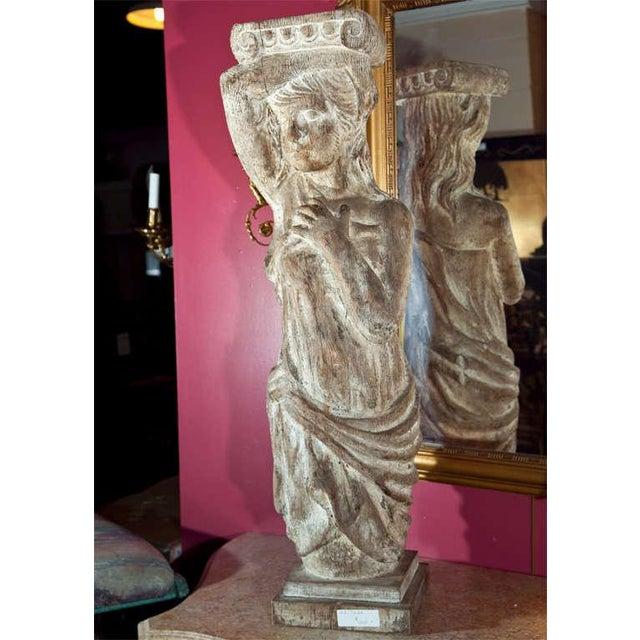Figurative Carved Solid Wood Figure or Pedestal For Sale - Image 3 of 8