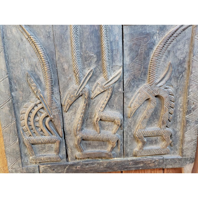 1900 - 1909 Early 20th Century Antique Tribal Senufo Door For Sale - Image 5 of 7