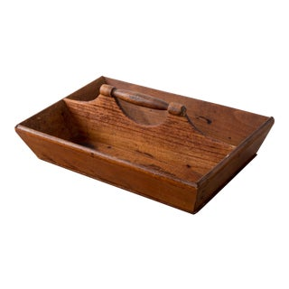 Mid 19th Century Antique New England Carpenter's Pine Tool Box For Sale