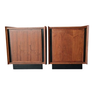 Mid Century Refinished Walnut Nightstands by Dillingham Esprit