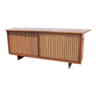 George Nakashima Two-Door Walnut Cabinet For Sale