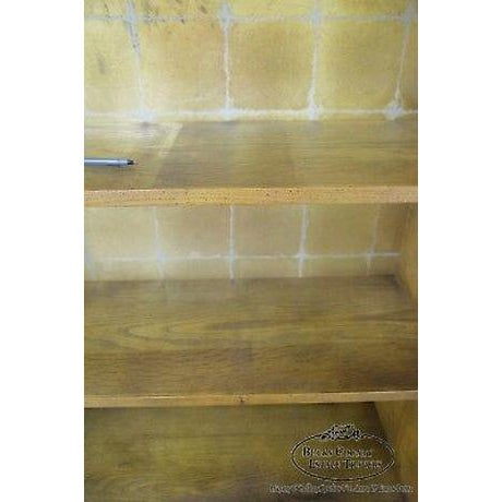Henredon Campaign Style Open Bookcase Cabinet For Sale - Image 10 of 13