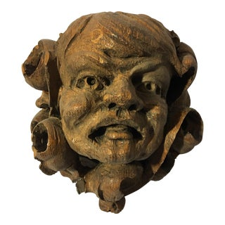 German Carved Oak Gargoyle For Sale