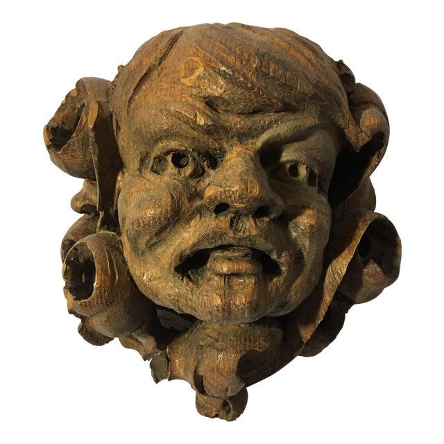 German Carved Oak Gargoyle - Image 1 of 9