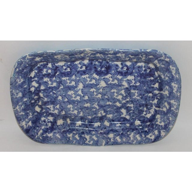 Ceramic 19th Century Sponge Ware Platters - Collection of 4 For Sale - Image 7 of 9