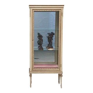 19th Century Italian Louis XVI Painted Vitrine For Sale