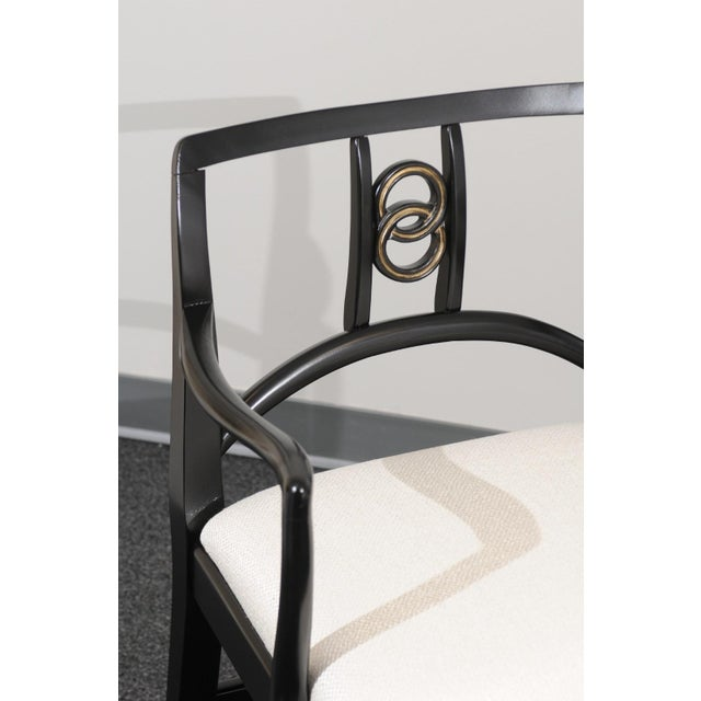 Mid-Century Modern Chic Restored Set of 6 Dining Chairs by Baker Furniture, circa 1960 For Sale - Image 3 of 13