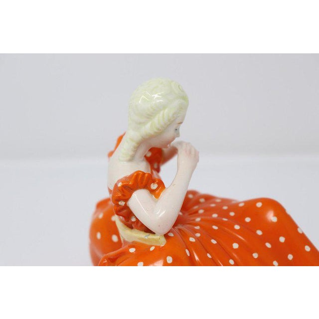 Ceramic 20th Century Italian Sculpture in Polychrome Artistic Ceramics by G Ronzan, 1945 For Sale - Image 7 of 10