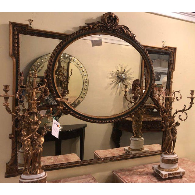 Finely Carved Hollywood Regency or Adams Style Over the Mantle or Wall Mirror For Sale - Image 4 of 13
