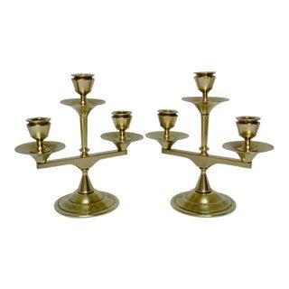 Brass Candelabras - A Pair