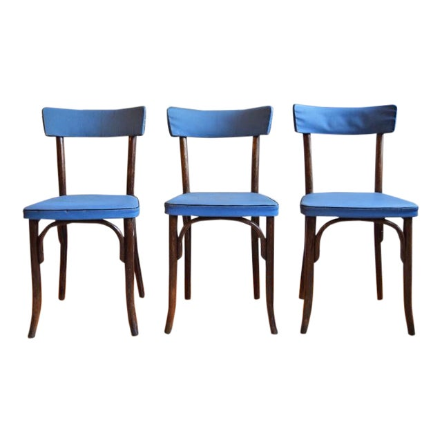 1950s Vintage Thonet Cafe Chairs- Set of 3 For Sale