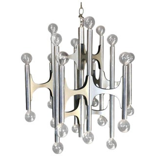 24 Bulb Gaetano Sciolari Chandelier for Lightolier For Sale