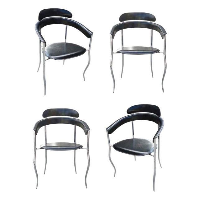 Arrben Italian Stiletto Architectural Chairs - Set of 4