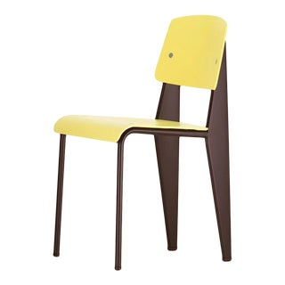 Jean Prouvé Standard Chair SP in Citron and Chocolate for Vitra For Sale