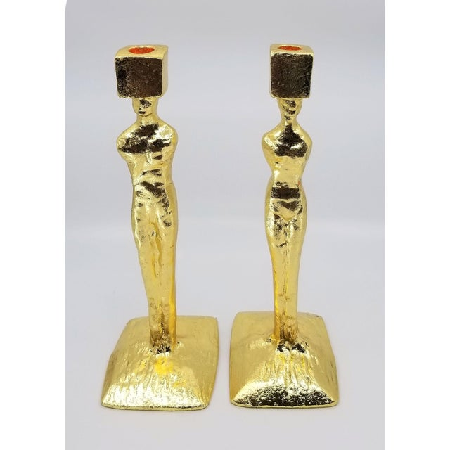 Mid-Century Modern Mid Century Modern Candlesticks - Candle Holders - Giacometti Style - Restored For Sale - Image 3 of 13