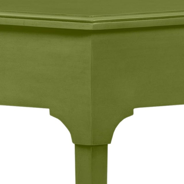 This is a made to order item with a 6-8 week leadtime. The color is Benjamin Moore Timson Green.A handy hall table with a...